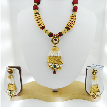 916 Gold Antique Bridal Necklace Set RHJ-3402