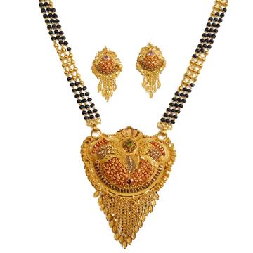 22k gold rajwadi mangalsutra mga - gm057