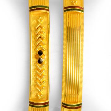 22KT Gold Copper Kadali Bangle BO-013