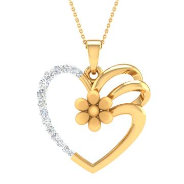 Real diamond fancy heart designed pendant by