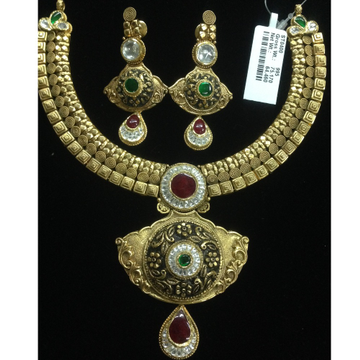 916 gold antique necklace