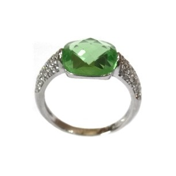925 Sterling Silver Colour Stone Ring MGA - LRS1560