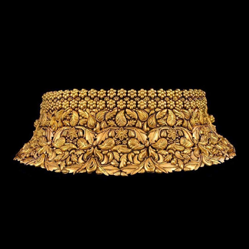 22KT Golden Choker Luxury And Simplicity Set for Bride