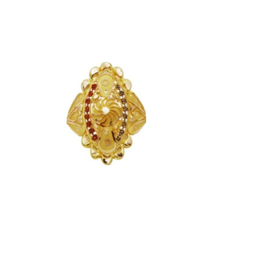 22 k light wt gold ladies ring RJ-LRG-010