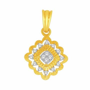 18k gold real diamond pendant mga - rp0028