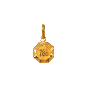 18K Gold Hexagon Shaped Pendant MGA - PDG0199