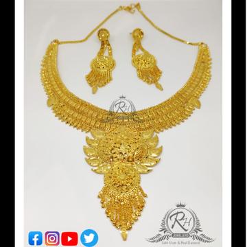 22 carat gold best ladies necklace set RH-LN286