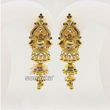 916 Plain Gold Jummar Earrings