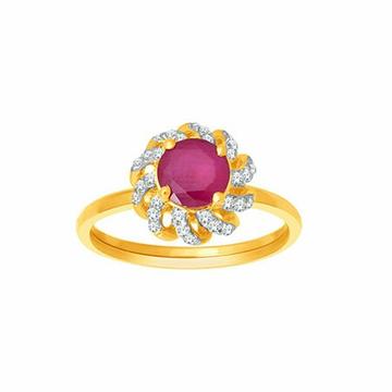 18k gold real diamond ring mga - rdr0033
