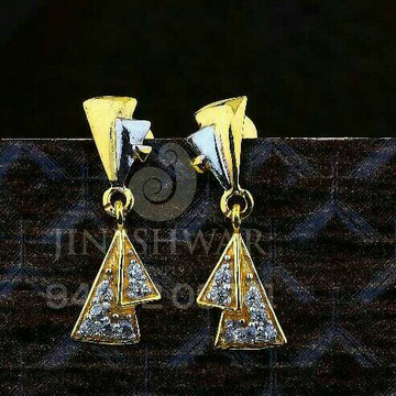 18kt Exclusive Cz Gold Fancy ladies Tops ATG -0745