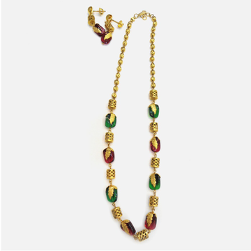 22KT Gold Colour Stone Mala RHJ-4472