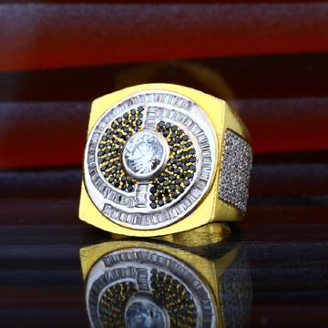Mens 916 Gold Heavyweight Designer Ring-MHR49