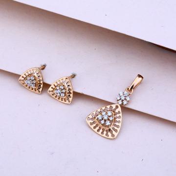 750 Rose Gold Designer Pendant Set RPS69