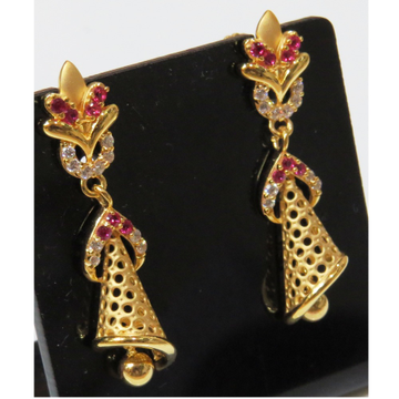 22kt gold cz attractive casting earrings jumkie by