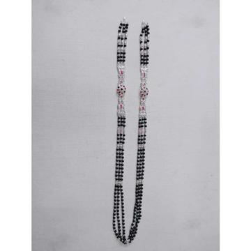 3(Three) Line Chole Bol Plaster Casting Dimond Black(Kala) Pearl(Moti) Mangalsutra Ms-2524