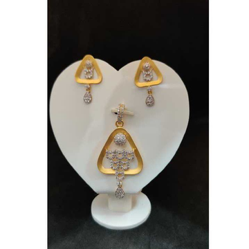 916 ladies fancy gold pendant set p-41803