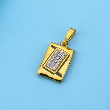 916 Gold Cz Diamond Pendant LFP34