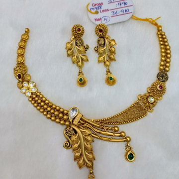 22ct antique jadtar set