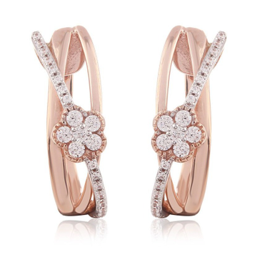 designer rose gold diamond earring by