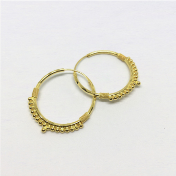 Light Weight Gold Kadi Hoop Earring For Women