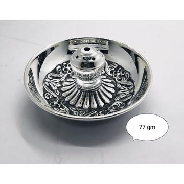 Pure Silver Agarbati Stand In Antique Finish PO-28... by Puran Ornaments