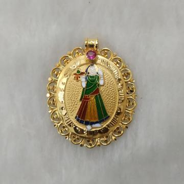 916 Gold Fancy Bhatiyani Maa Pendant