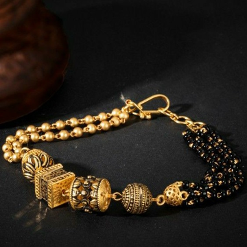 22KT/ 916 Gold fancy festival mangalsutra bracelet for ladies by