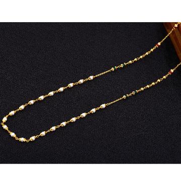 916 Gold Stylish Antique Chain Mala AC144