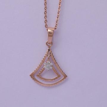 18 carat gold real daimonds ladies pendants RH-LP957