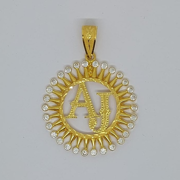 916 Gold Fancy letter Named Pendant