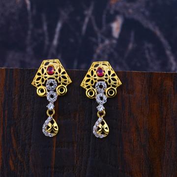 916 Gold Cz Diamond Earrings LFE291