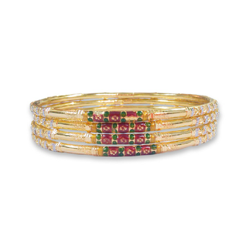 22KT YELLOW GOLD COPPER KADLI BANGLE