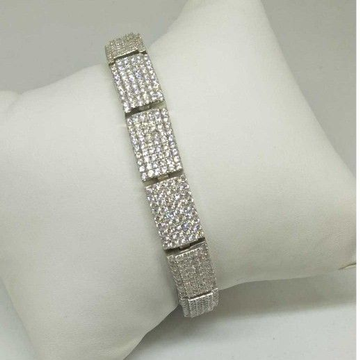 925 sterling silver ad diamond gents bracelet