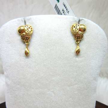Gold Micro Casting Earring by
