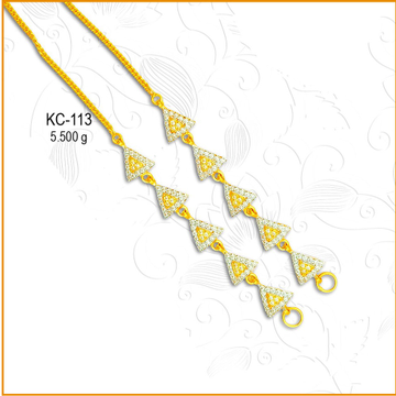 916 Gold CZ Diamond Triangle Shape Kanser KC-113