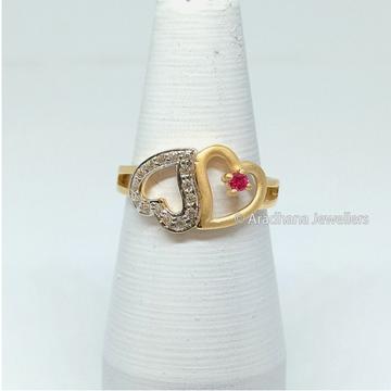 22kt Gold Heart Shape Ladies Ring