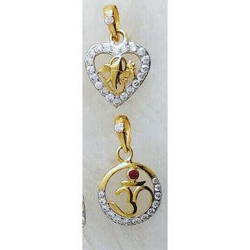916 Gold Religious Om Ganpati Pendant