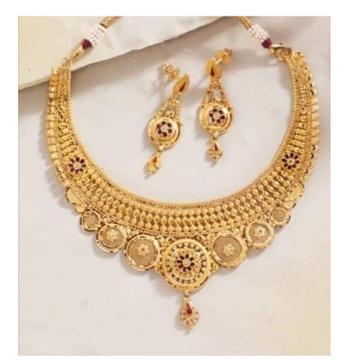 22 Carat gold Bridal modern set RH-BT209