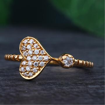 916 Gold Hallmark Heart Design Ring
