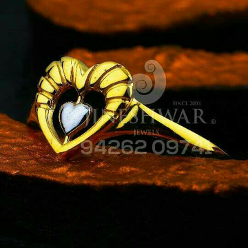 916 heart shape plain gold ladies ring lrg -0582