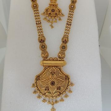 916 gold semi antique long set by Vinayak Gold