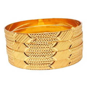 1 gram gold forming plain bangles mga - bge0444
