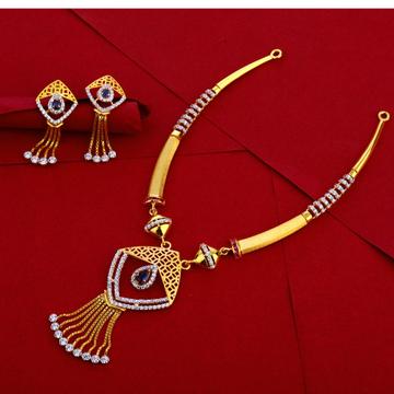 916 Gold Ladies Designer Necklace Set LN256