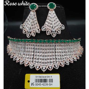 Beautiful Diamond Necklace Set#992