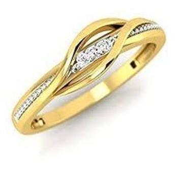 916 Gold CZ Ladies Ring LR-0011