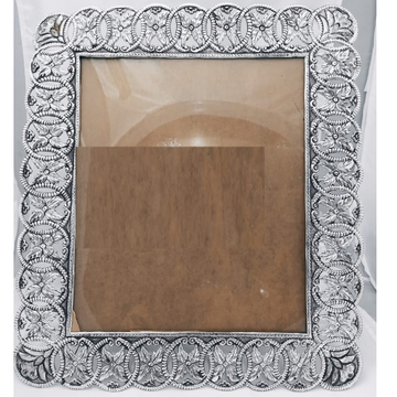 Pure Silver Photo Frame In Antique Nakashii work P...