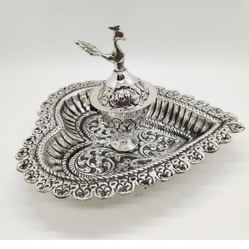 925 pure silver stylish kumkum Dibbi WIth Tray in...