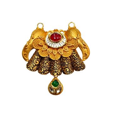 22K Gold Antique Designer Mangalsutra Pendant MGA - MGP0024