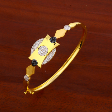 18CT CZ  Ladies Delicate Gold Kada Bracelet LKB171
