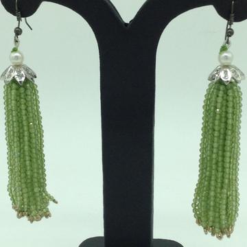 Parrot Green Peridot Stones Ear Chandelier Hanging...